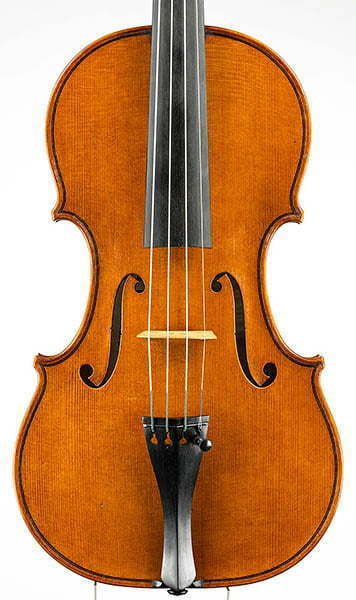 "Front of ""Plowden"" del Gesu violin model #146"